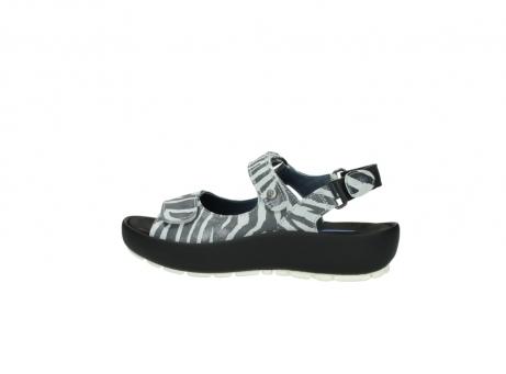 wolky sandalen 3325 rio 912 zebra print metallic leder_2