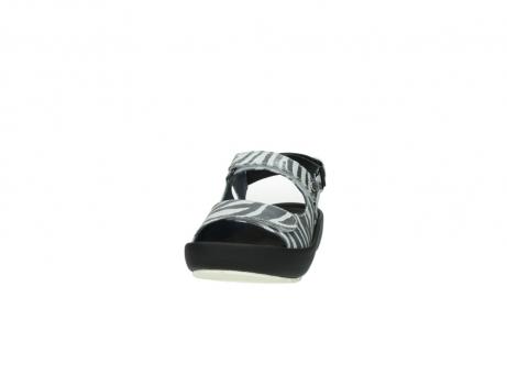 wolky sandalen 3325 rio 912 zebra print metallic leder_20