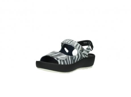 wolky sandalen 3325 rio 912 zebra print metallic leder_22