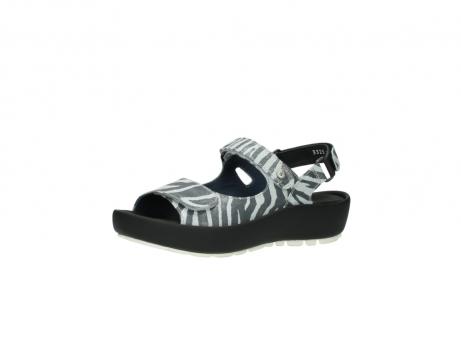 wolky sandalen 3325 rio 912 zebra print metallic leder_23