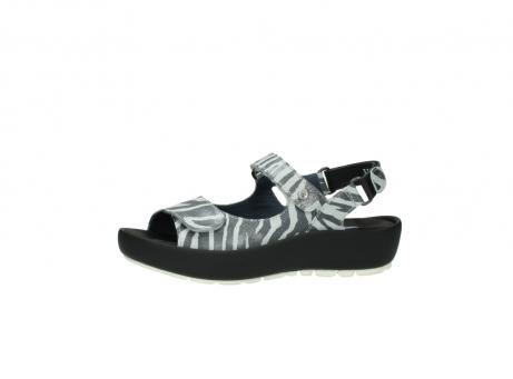 wolky sandalen 3325 rio 912 zebra print metallic leder_24