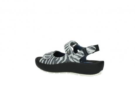 wolky sandalen 3325 rio 912 zebra print metallic leder_3