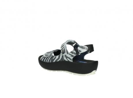 wolky sandalen 3325 rio 912 zebra print metallic leder_4