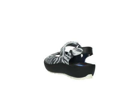 wolky sandalen 3325 rio 912 zebra print metallic leder_5