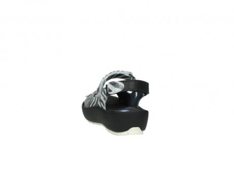 wolky sandalen 3325 rio 912 zebra print metallic leder_6