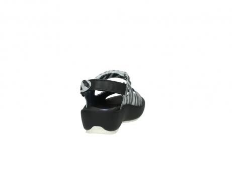 wolky sandalen 3325 rio 912 zebra print metallic leder_8