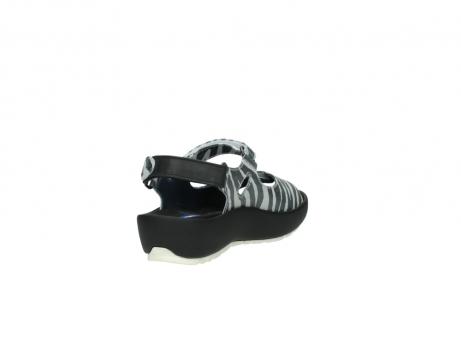 wolky sandalen 3325 rio 912 zebra print metallic leder_9