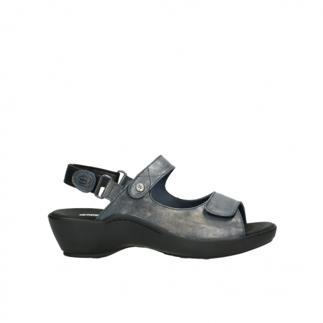 wolky sandalen 3476 lema 880 blauw leer