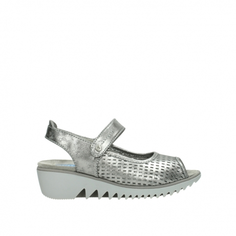 wolky sandalen 3820 blade 120 grijs zilver nubuck
