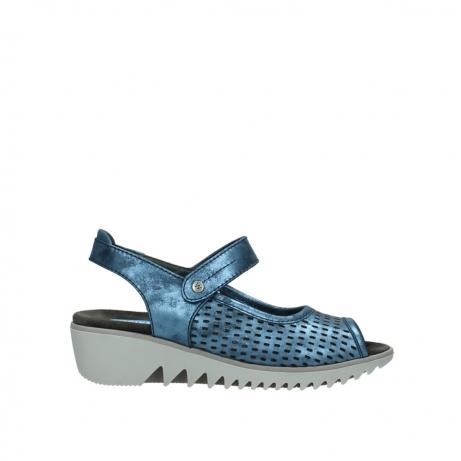 wolky sandalen 3820 blade 180 blauw nubuck