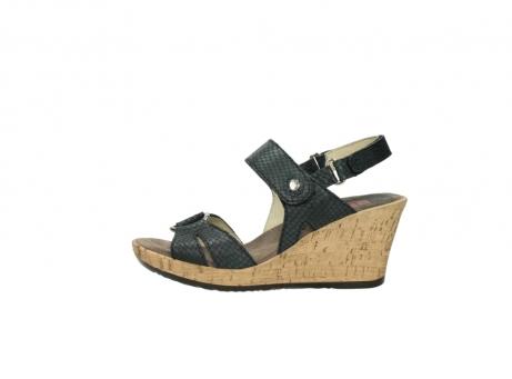 wolky sandalen 4630 mentha 621 antraciet slangenprint leer_1