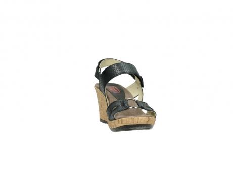 wolky sandalen 4630 mentha 621 antraciet slangenprint leer_18