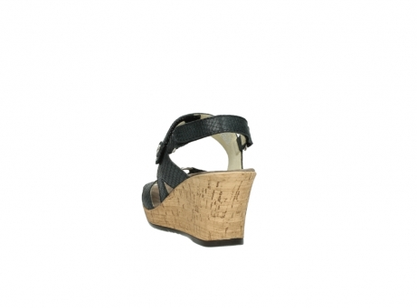 wolky sandalen 4630 mentha 621 antraciet slangenprint leer_6