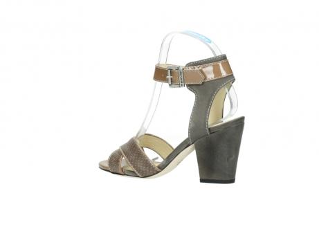 wolky sandalen 4640 nyc 615 taupe slangenprint leer_3