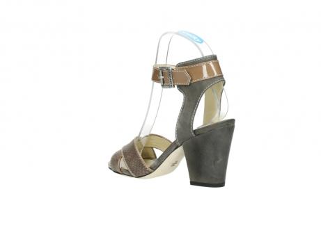 wolky sandalen 4640 nyc 615 taupe slangenprint leer_4