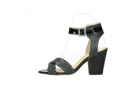 wolky sandalen 4640 nyc 621 antraciet slangenprint leer_1