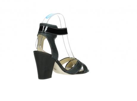 wolky sandalen 4640 nyc 621 antraciet slangenprint leer_10