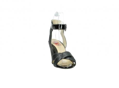 wolky sandalen 4640 nyc 621 antraciet slangenprint leer_18