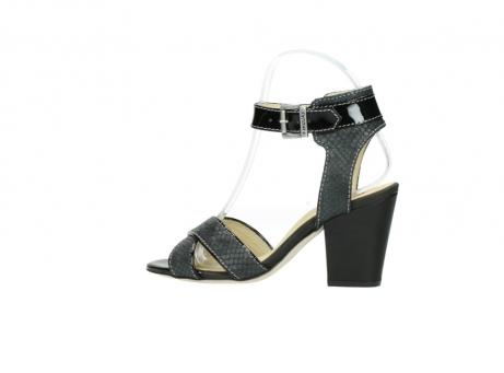 wolky sandalen 4640 nyc 621 antraciet slangenprint leer_2