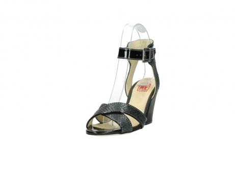 wolky sandalen 4640 nyc 621 antraciet slangenprint leer_21