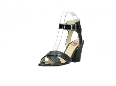 wolky sandalen 4640 nyc 621 antraciet slangenprint leer_22
