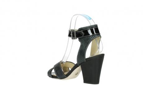 wolky sandalen 4640 nyc 621 antraciet slangenprint leer_4
