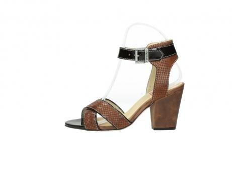 wolky sandalen 4640 nyc 643 cognac slangenprint leer_1