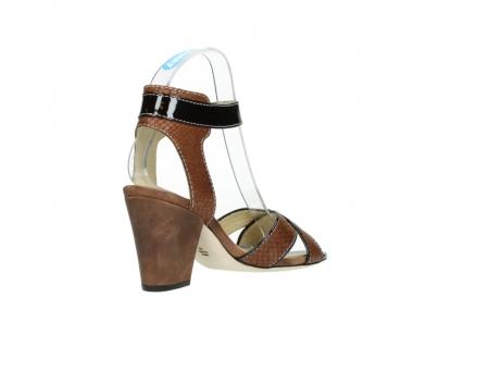 wolky sandalen 4640 nyc 643 cognac slangenprint leer_10