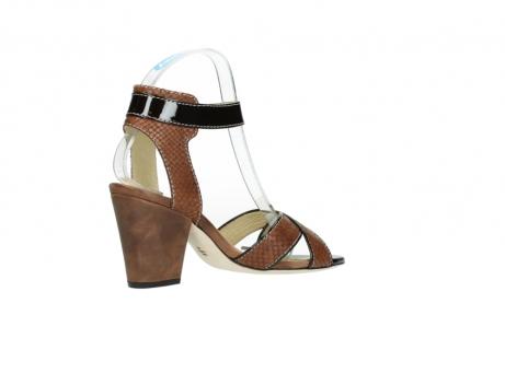 wolky sandalen 4640 nyc 643 cognac slangenprint leer_11