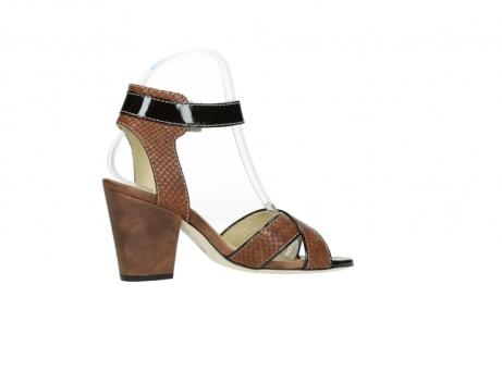 wolky sandalen 4640 nyc 643 cognac slangenprint leer_12
