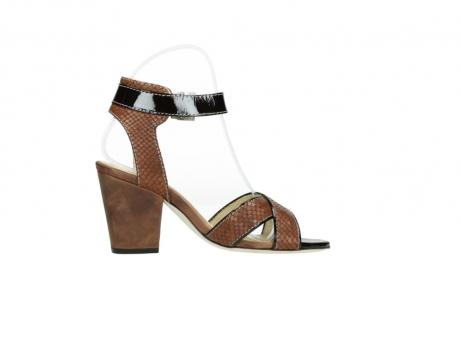 wolky sandalen 4640 nyc 643 cognac slangenprint leer_13