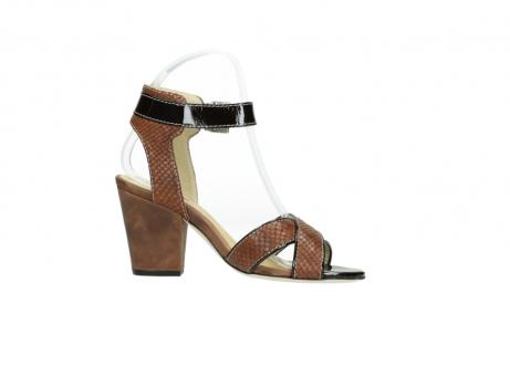 wolky sandalen 4640 nyc 643 cognac slangenprint leer_14