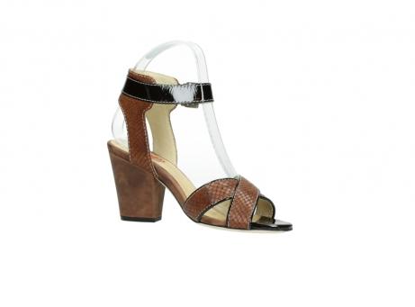 wolky sandalen 4640 nyc 643 cognac slangenprint leer_15