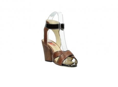 wolky sandalen 4640 nyc 643 cognac slangenprint leer_17