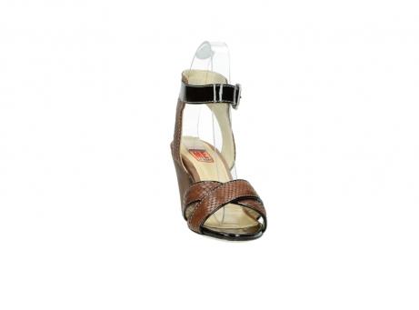 wolky sandalen 4640 nyc 643 cognac slangenprint leer_18