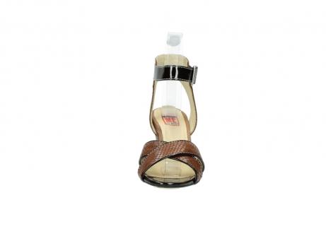 wolky sandalen 4640 nyc 643 cognac slangenprint leer_19