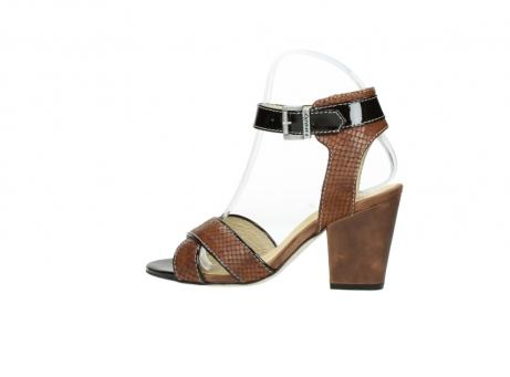 wolky sandalen 4640 nyc 643 cognac slangenprint leer_2