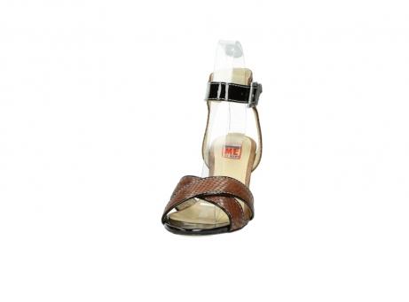 wolky sandalen 4640 nyc 643 cognac slangenprint leer_20