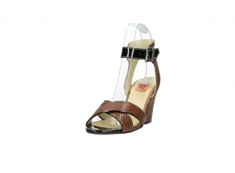 wolky sandalen 4640 nyc 643 cognac slangenprint leer_21