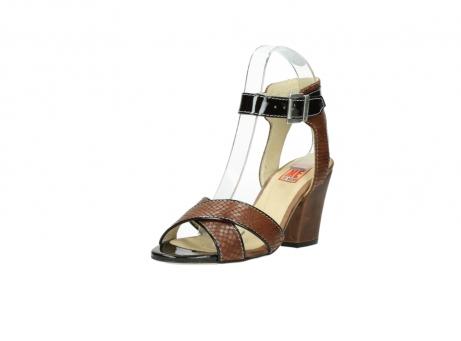 wolky sandalen 4640 nyc 643 cognac slangenprint leer_22