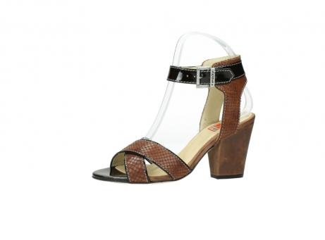 wolky sandalen 4640 nyc 643 cognac slangenprint leer_24