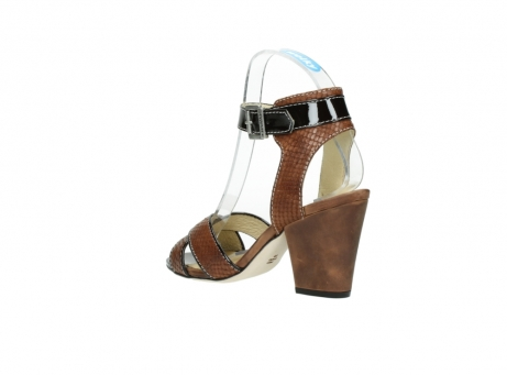 wolky sandalen 4640 nyc 643 cognac slangenprint leer_4