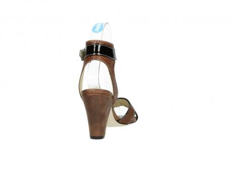 wolky sandalen 4640 nyc 643 cognac slangenprint leer_8