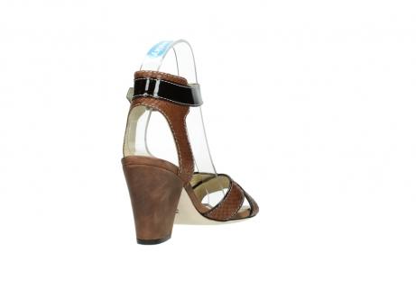 wolky sandalen 4640 nyc 643 cognac slangenprint leer_9