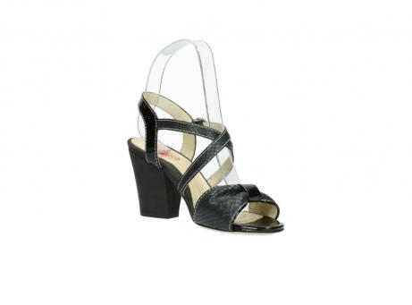wolky sandalen 4641 la 621 antraciet slangenprint leer_16
