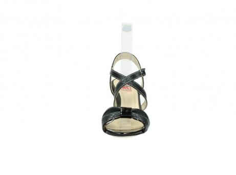 wolky sandalen 4641 la 621 antraciet slangenprint leer_19