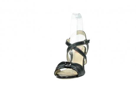 wolky sandalen 4641 la 621 antraciet slangenprint leer_20
