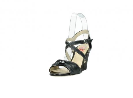 wolky sandalen 4641 la 621 antraciet slangenprint leer_21