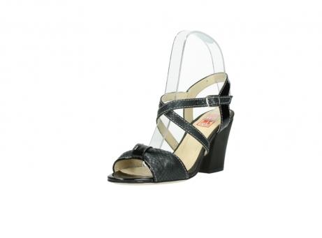 wolky sandalen 4641 la 621 antraciet slangenprint leer_22