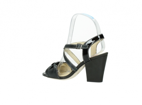 wolky sandalen 4641 la 621 antraciet slangenprint leer_3